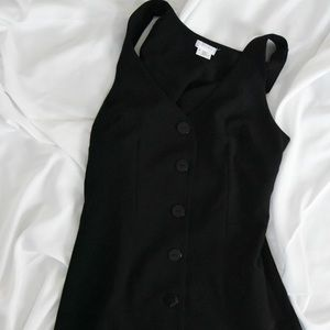 Mini black buttoned dress
